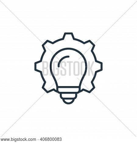 bulb icon isolated on white background from robotics collection. bulb icon thin line outline linear