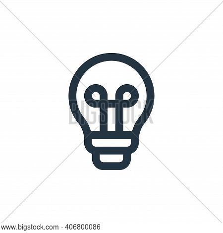 bulb icon isolated on white background from user interface collection. bulb icon thin line outline l