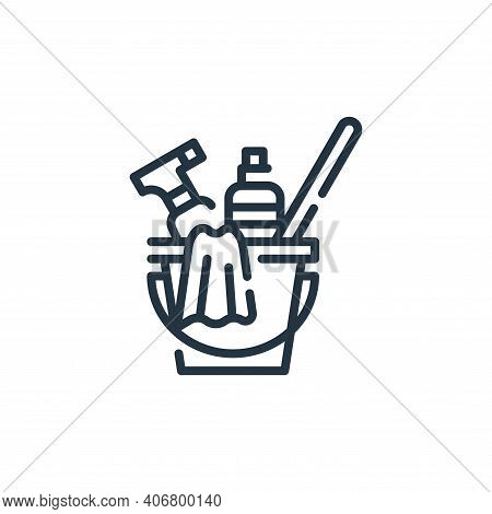 bucket icon isolated on white background from cleaning collection. bucket icon thin line outline lin