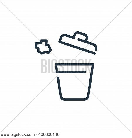 bucket icon isolated on white background from coronavirus collection. bucket icon thin line outline