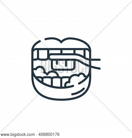 brushing teeth icon isolated on white background from dental care collection. brushing teeth icon th