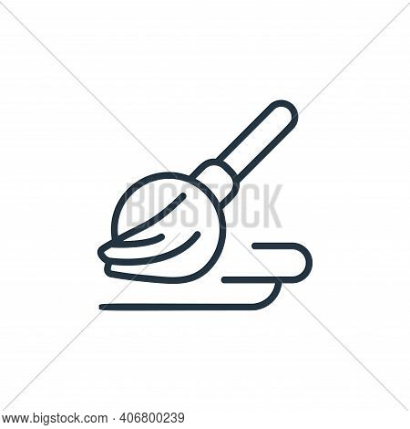 broom icon isolated on white background from covid collection. broom icon thin line outline linear b