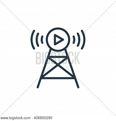 Broadcast icon isolated on white background from internet of things collection. Broadcast icon thin