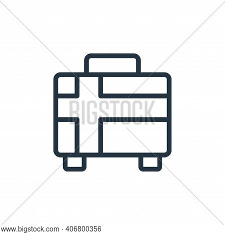 briefcase icon isolated on white background from school collection. briefcase icon thin line outline