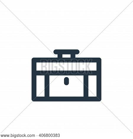 briefcase icon isolated on white background from holiday collection. briefcase icon thin line outlin