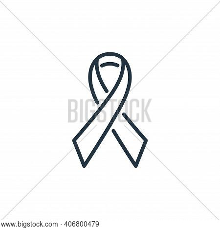 breast cancer icon isolated on white background from insurance collection. breast cancer icon thin l