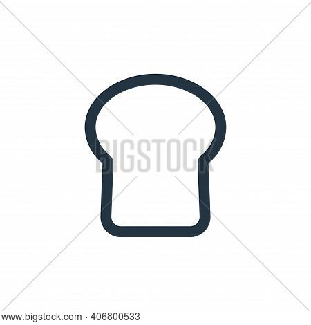 bread icon isolated on white background from food collection. bread icon thin line outline linear br