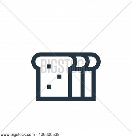 bread icon isolated on white background from nutrition collection. bread icon thin line outline line