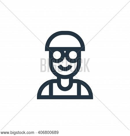 boy icon isolated on white background from people collection. boy icon thin line outline linear boy