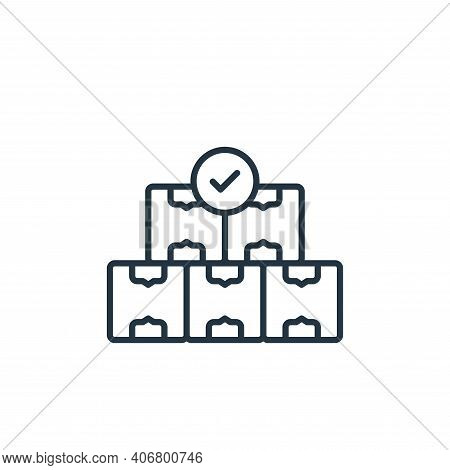 boxes icon isolated on white background from shipping and delivery collection. boxes icon thin line