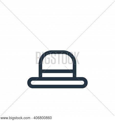 bowler hat icon isolated on white background from europe collection. bowler hat icon thin line outli