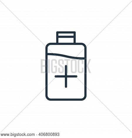 bottle icon isolated on white background from stop virus collection. bottle icon thin line outline l