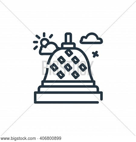 Borobudur Vector Icon From World Monument Collection Isolated On White Background