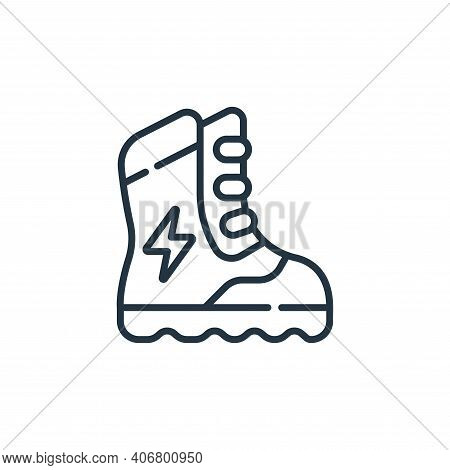 boots icon isolated on white background from electrician tools and elements collection. boots icon t