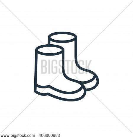 boots icon isolated on white background from health and protection collection. boots icon thin line