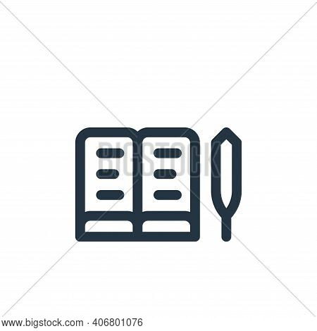 book icon isolated on white background from europe collection. book icon thin line outline linear bo