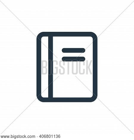 book icon isolated on white background from interface collection. book icon thin line outline linear