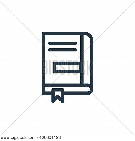 book icon isolated on white background from business collection. book icon thin line outline linear