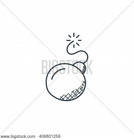 bomb icon isolated on white background from technology collection. bomb icon thin line outline linea