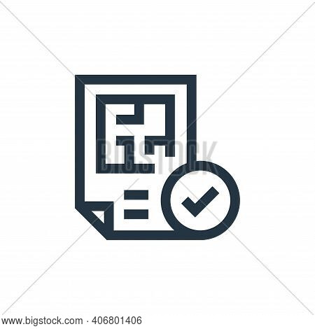 blueprint icon isolated on white background from real estate collection. blueprint icon thin line ou