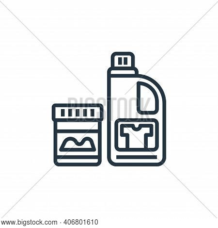 bleach icon isolated on white background from laundry collection. bleach icon thin line outline line
