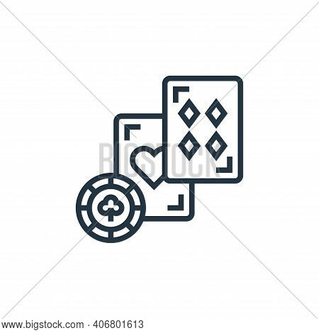 blackjack icon isolated on white background from casino collection. blackjack icon thin line outline