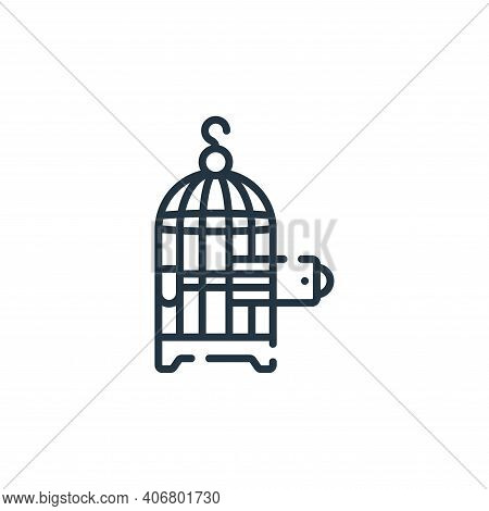 bird cage icon isolated on white background from hope collection. bird cage icon thin line outline l