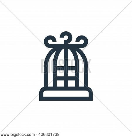bird cage icon isolated on white background from pet shop collection. bird cage icon thin line outli
