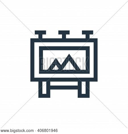 billboard icon isolated on white background from advertisement collection. billboard icon thin line