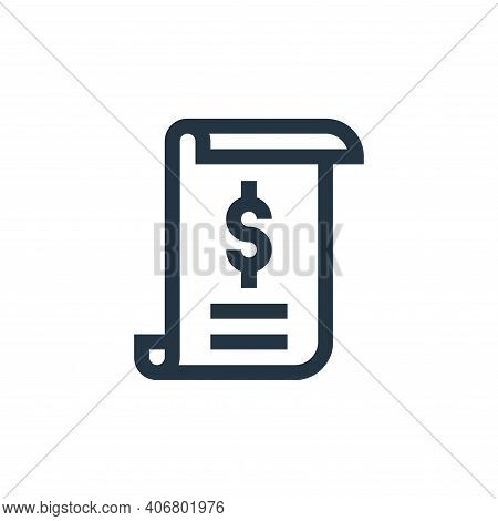 bill icon isolated on white background from pharmacy collection. bill icon thin line outline linear