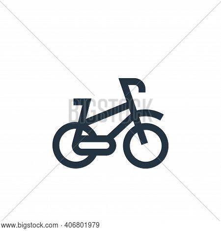 bike icon isolated on white background from hobbies collection. bike icon thin line outline linear b