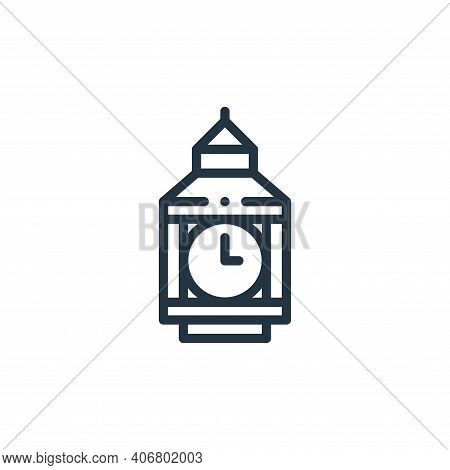 big ben icon isolated on white background from europe collection. big ben icon thin line outline lin