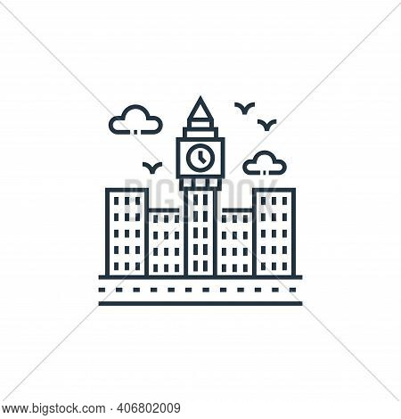 big ben icon isolated on white background from tourism collection. big ben icon thin line outline li