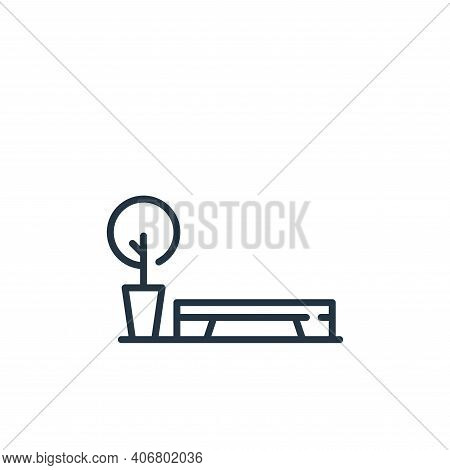 bench icon isolated on white background from mall collection. bench icon thin line outline linear be