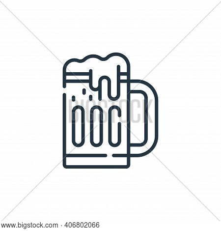 beer mug icon isolated on white background from celebration collection. beer mug icon thin line outl