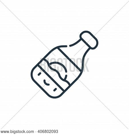 beer icon isolated on white background from reggae collection. beer icon thin line outline linear be