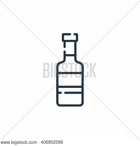 beer icon isolated on white background from hippies collection. beer icon thin line outline linear b
