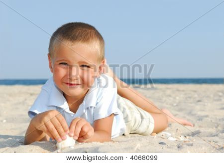 Cheerful  Child On  Vacations