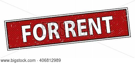 For Rent Vector Sign Isolated On White Background, Room Or Flat For Rent Billboard