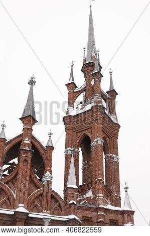 09.02.2020 - Samara, Russia: Parish Of The Sacred Heart Of Jesus Roman Catholic Church In Samara.