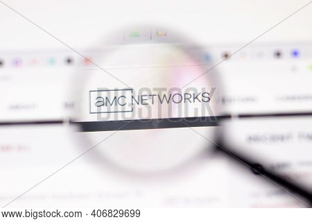 Los Angeles, Usa - 1 February 2021: Amc Networks Website Page. Amcnetworks.com Logo On Display Scree