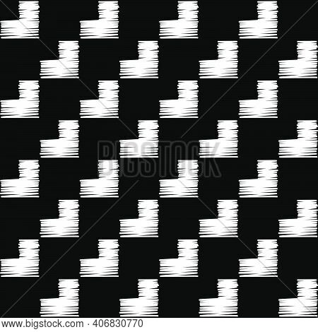Embroidery. Navajo Mosaic Rug With Traditional Folk Geometric Pattern.