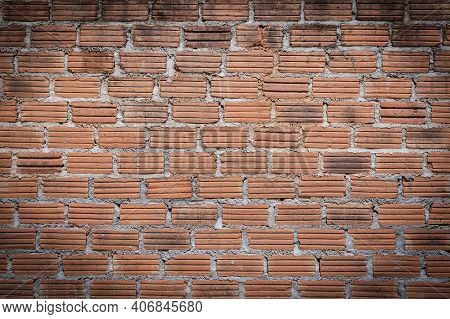 Brick Wall For Interior Exterior Decoration. Brick Wall For Industrial Construction Design. Brick Wa