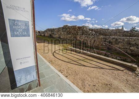 Merida, Spain - Dec 12th, 2020: Imperial City Circus Of Emerita Augusta, Merida, Spain. One Of The L