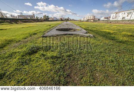 Meta Secunda Of Imperial City Circus Of Emerita Augusta, Merida, Spain. One Of The Largest Of Roman