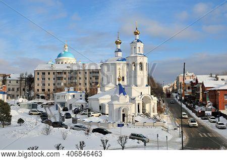 Kazan, Russia - February 2, 2021. Orthodox Church Of The Holy Great Martyr Paraskeva Pyatnitsa.