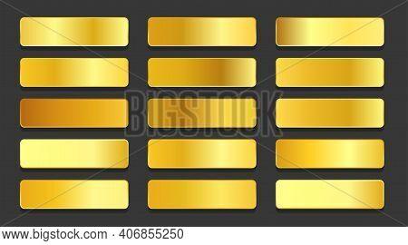 Yellow Gold Gradients Metallic Gradients Set Design