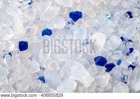 Cat Litter Silica Gel Close Up Crystals Texture