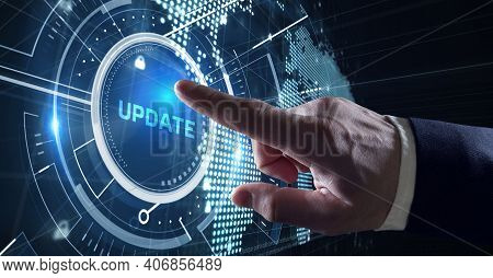 Business, Technology, Internet And Network Concept. Update Software Computer Program Upgrade.