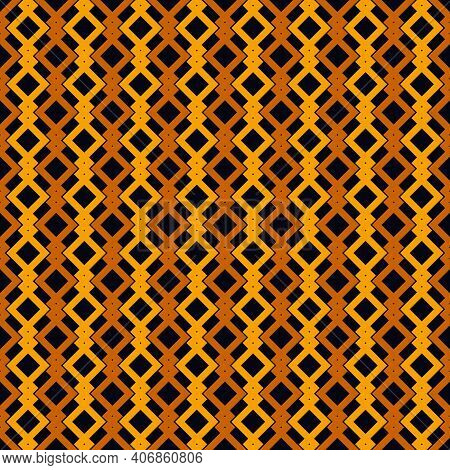 Ethnic, Tribal Seamless Surface Pattern. Repeated Diamonds And Squares Motif. Folk Background. Folkl